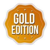 Etichetta o autoadesivo dell'edizione dell'oro illustrazione vettoriale