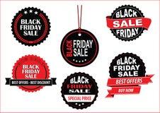 Etichetta o fondo di vendita di Black Friday Immagini Stock