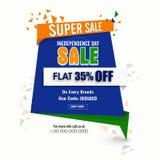 Etichetta o insegna eccellente di vendita per la festa dell'indipendenza indiana Immagini Stock