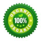 Etichetta organica del distintivo di 100% isolata Fotografia Stock Libera da Diritti