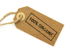 Etichetta organica di 100% Fotografie Stock
