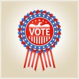 Etichetta patriottica americana di elezione Fotografia Stock Libera da Diritti