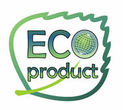Etichetta per il prodotto ecologico Immagini Stock Libere da Diritti