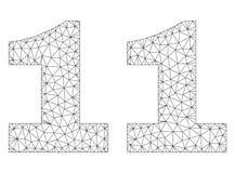 Etichetta poligonale del testo della carcassa 11 illustrazione vettoriale