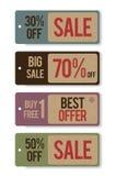 Etichetta promozionale di vendita fotografie stock