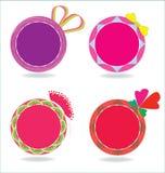 Etichetta rosa Immagine Stock