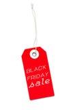 Etichetta rossa dell'etichetta di vendita di Black Friday Immagine Stock Libera da Diritti