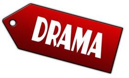 Etichetta rossa di DRAMMA Immagine Stock Libera da Diritti