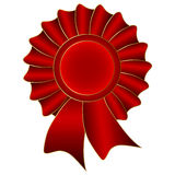 Etichetta rossa di vettore Fotografia Stock