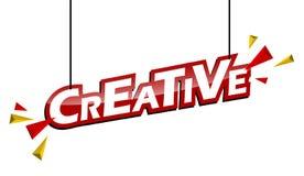 Etichetta rossa e gialla creativa illustrazione vettoriale