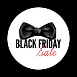 Etichetta rotonda del nero di vendita di Black Friday Royalty Illustrazione gratis