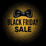 Etichetta rotonda del nero di vendita di Black Friday Illustrazione di Stock
