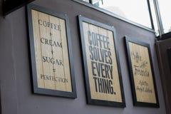 Etichetta sulla parete Immagini Stock