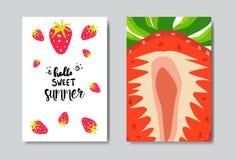 Etichetta tipografica di progettazione isolata distintivo dolce stabilito della fragola di estate Feste che segnano per il logo,  illustrazione vettoriale