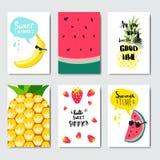 Etichetta tipografica di progettazione isolata distintivo esotico stabilito di frutti Condisca le feste che segnano per il logo,  royalty illustrazione gratis