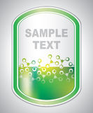 Etichetta verdastra astratta del laboratorio Fotografie Stock