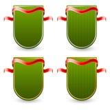 Etichetta verde con il nastro Immagini Stock