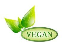 Etichetta verde del vegano Fotografia Stock Libera da Diritti