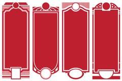 Etichette astratte dell'annata di vettore sulle versioni differenti Immagini Stock Libere da Diritti