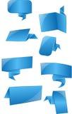 Etichette blu, etichette Fotografia Stock Libera da Diritti