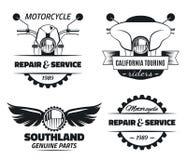 Etichette classiche del motociclo Fotografia Stock