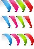 Etichette colorate, linguette Fotografia Stock