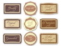 Etichette d'annata Immagini Stock
