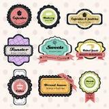 Etichette d'annata del forno Fotografia Stock