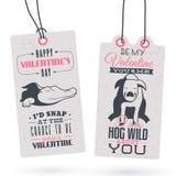 Etichette d'annata del regalo di San Valentino Immagine Stock Libera da Diritti