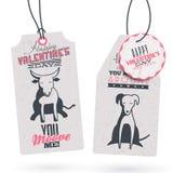 Etichette d'annata del regalo di San Valentino Fotografia Stock Libera da Diritti