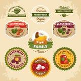 Etichette d'annata dell'azienda agricola illustrazione vettoriale