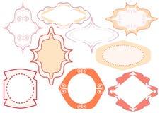 Etichette d'annata di rosa Immagine Stock
