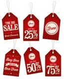 Etichette d'annata di vendita al dettaglio Immagine Stock