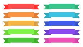 Etichette d'annata vuote in dieci varianti di colore da scegliere Fotografia Stock Libera da Diritti