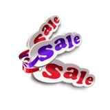 Etichette da vendere con il nastro Illustrazione di Stock