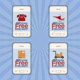Etichette degli oggetti di consegna Immagini Stock Libere da Diritti
