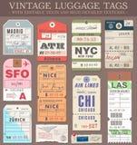 Etichette dei bagagli di vettore Fotografie Stock Libere da Diritti