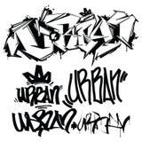 Etichette dei graffiti di vettore - scrittura Immagini Stock Libere da Diritti