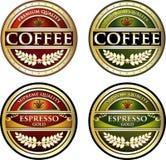 Etichette del caffè Immagine Stock Libera da Diritti