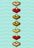 Etichette del cuore royalty illustrazione gratis