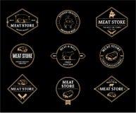 Etichette del deposito della carne ed elementi di progettazione illustrazione vettoriale