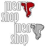 Etichette del deposito della carne o dello steakhouse fotografia stock libera da diritti