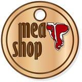 Etichette del deposito della carne o dello steakhouse immagini stock