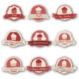 Etichette del muffin Fotografie Stock