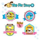Etichette del negozio di animali Immagini Stock Libere da Diritti