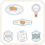 Etichette del pesce Immagini Stock