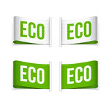 Etichette del prodotto di Eco e di Eco Immagine Stock