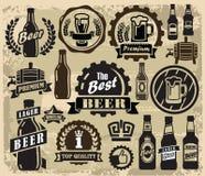 Etichette del pub della birra Fotografie Stock Libere da Diritti