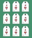 Etichette del regalo con il Babbo Natale royalty illustrazione gratis