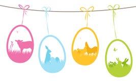 Etichette del regalo di Pasqua Immagine Stock Libera da Diritti